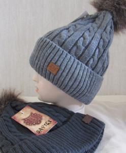 шапка зимняя  размер на 3-7 лет