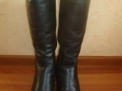 Зимние, кожаные, женские сапоги почти новые 37р.