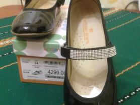 Испанские лаковые туфли 34 размер