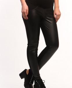 Кожаные утепленные брюки для беременных