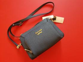 Новая сумка кроссбоди Италия кожа темно-синяя