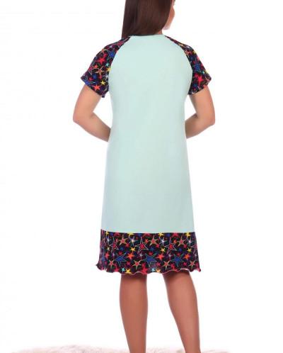 Сорочка Лючия (3086). Расцветка: ментол