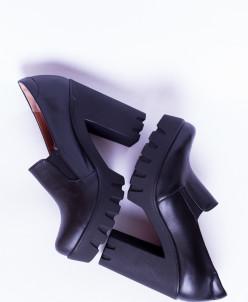 Туфли из натуральной черной кожи №311-1