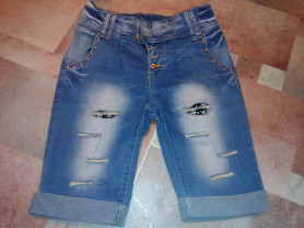 Шорты джинсовые новые р.40-42 ширинка на пуговицах