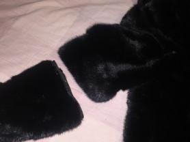 Шуба норковая чёрная