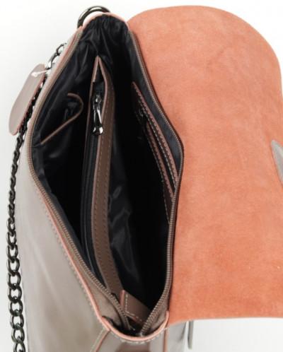 Женская кожаная сумка 8835 Хаки