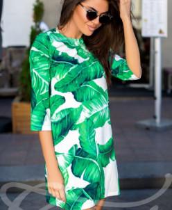 Яркое тропическое  платье Gepur