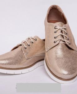 Туфли из натуральной золотой  кожи №303-2