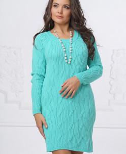 Платье Д1169. Ментол . Вязаный трикотаж