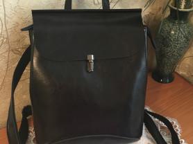 Рюкзак-сумка,новый,кожа
