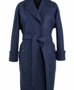 Пальто женское демисезонное (пояс) Валяная шерсть