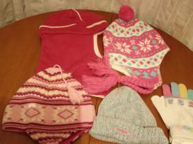 Шапки на маленькую девочку и шарфы