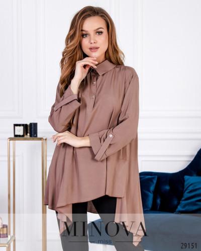Рубашка №6169-Коричневый