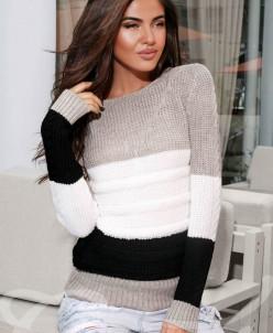 Тёплый полосатый свитер Gepur
