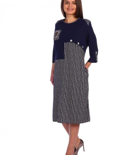 Платье Верена  темно-синее