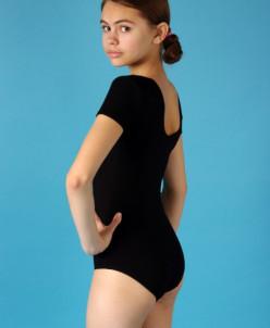 Купальник гимнастический короткий рукав