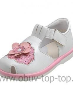 Топ-Топ сандалеты для девочки 32066 ИК белый+розовый