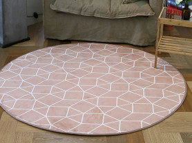 Инди-розовый круглый ковер Gland 150 х 150 см