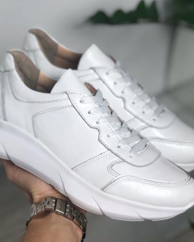 Стильные кожаные кроссовки. New Collection 19