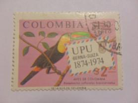 Марка Colombia 1874-1974 UPU Птицы