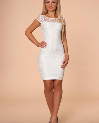 Платье № 872-молочн