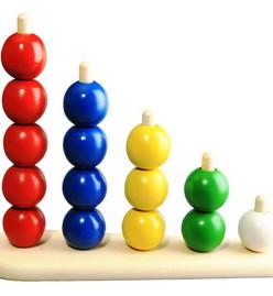 Пирамидка Абака с шариками (RNToys)