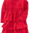 Платье с длинным рукавом OLD NAVY  - красное