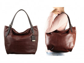 Новая большая кожаная сумка Италия А4