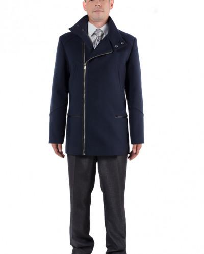 06-0048 Пальто мужское демисезонное (Рост 182) Кашемир Navy