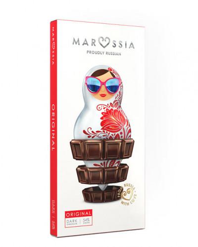 "Шоколад ""MARUSSIA"" Темный ORIGINAL 54%, 100гр*10"