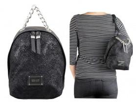 Новый кожаный рюкзак Италия черного цвета