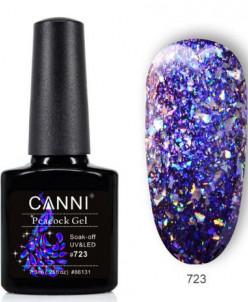 CANNI, гель-лак Павлин, Peacock gel №723
