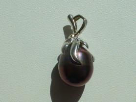 кулон подвеска серебро 925* с нат.жемчугом