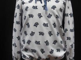 Школьная блуза с совушками (Польша) рост 128-134