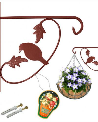 """Кронштейн для цветов """"Птичка"""" 28*26 см SW83-121"""