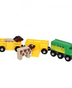 Грузовой поезд с животными BRIO (БРИО)