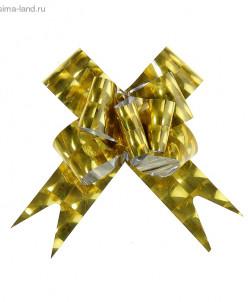 """Бант-бабочка № 3 """"Квадраты"""", цвет золотой"""