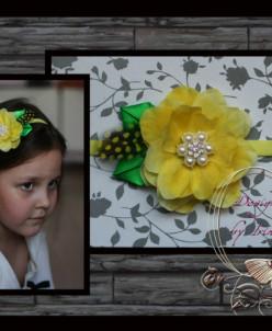 """Тонкая повязка """"Желтый цветок"""""""