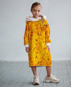 Платье с капюшоном Море одуванчиков