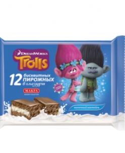 Пирожное Макфа Trolls Молочный коктейль