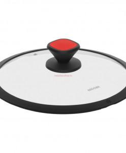 Стеклянная крышка с силиконовым ободом, 20 см, NADOBA, серия