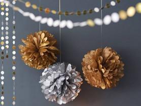 Бумажные помпоны для украшения праздников