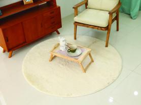 Кремовый круглый ковер S-Pie 170 х 170 см