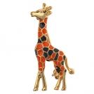 """Позолоченная брошь """"Жираф"""" с эмалью"""