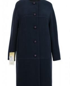 Пальто женское демисезонное Кашемир Темно-синий