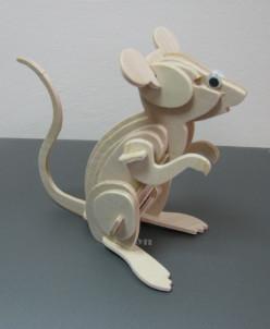 Конструктор деревянный Мышка