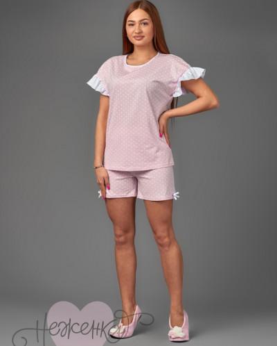 Женская пижама ЖП 040 (горох на розовом)