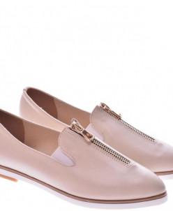 Женские кожаные туфли на молнии