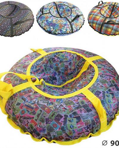 Санки-ватрушки Дизайн-Плюс диаметр 0,9 м