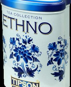 Этно-Голубые цветы/Ethno-Blue flowers 100г ж/б